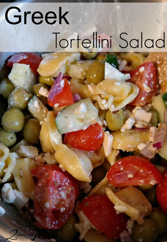 Easy Greek Tortellini Salad made from scratch fits for BBQ and cook outs. It is also healthy and my whole family loves it!