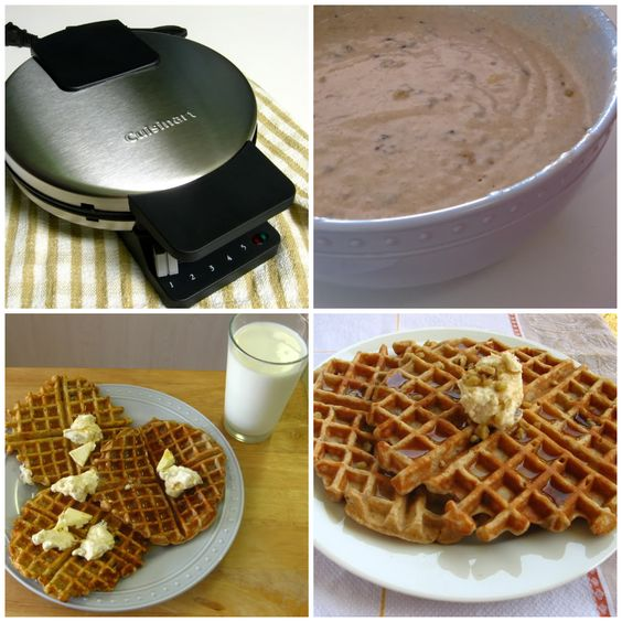 nut waffles with maple nut butter | Food | Pinterest | Banana Nut ...
