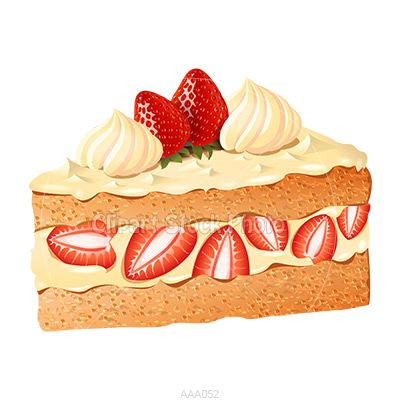 Strawberry Cake Clip Art Delicious Strawberry Shortcake ...