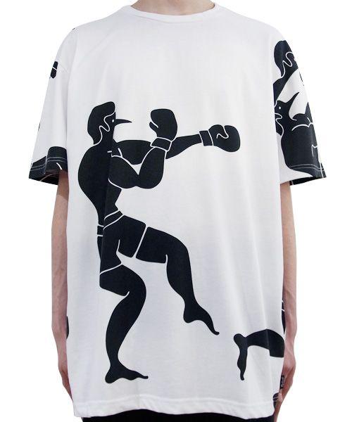 ROCKWELL - BOXER TEE (WHITE) http://www.raddlounge.com/?pid=76714948    #raddlounge #style #stylecheck #fashionblogger #fashion #shopping #menswear #clothing #julianzigerli #harajuku #rockwellbyparra #rockwellclothing #parra