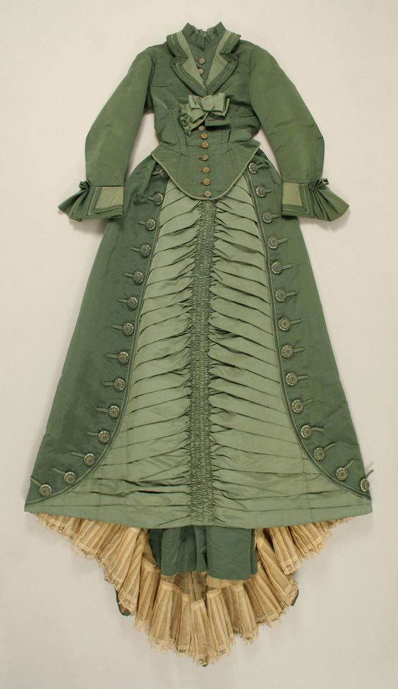 Dress   c. 1873-1875  (Front)  From the Metropolitan Museum of Art