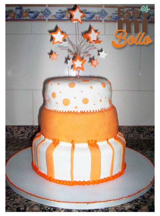 Orange & white cake