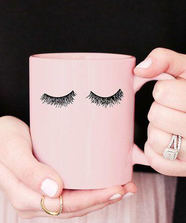 Pink Eyelashes Coffee Mug ==