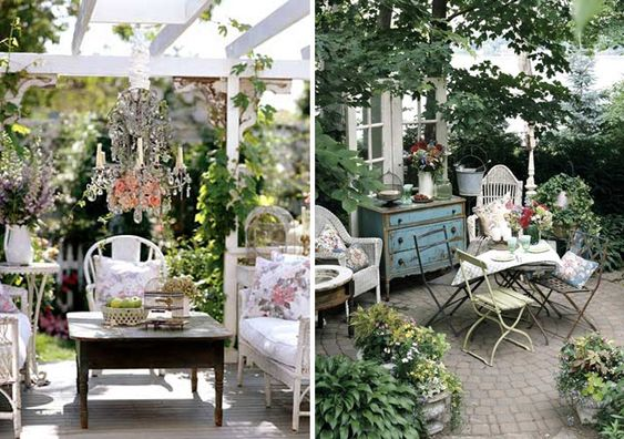 I almost never like shabby chic, but I really like it outside.