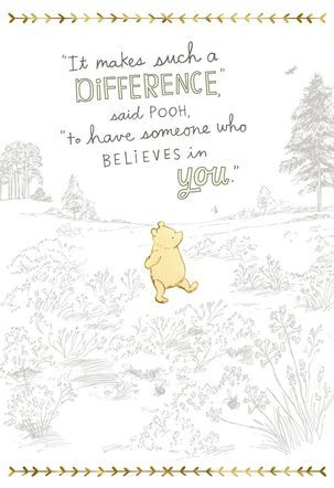 Winnie the Pooh stands out in gold foil detail as he marches through an illustration of the Hundred Acre Wood. Pooh addresses the key qualities of a special teacher giving you the perfect introduction to compliment a deserving teacher in your own school.