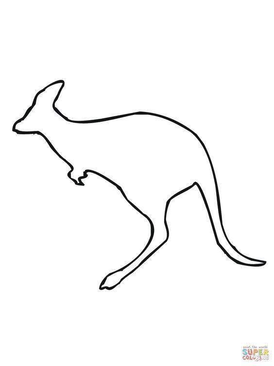 Kangaroo drawing outline - photo#14
