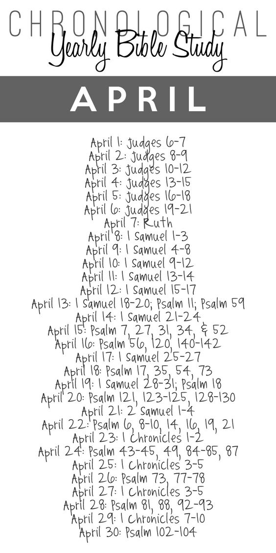 2014 Yearly Bible Study Guide – April {Free Printable Download}