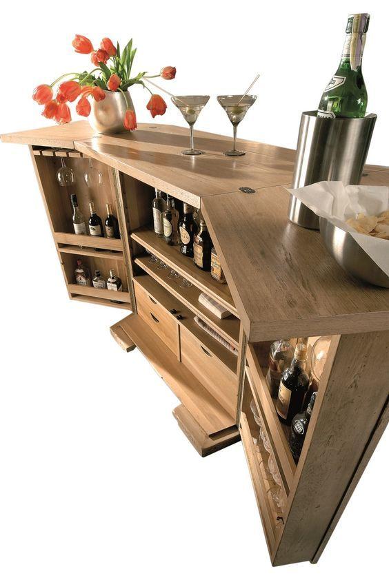 Luberon Folding Bar Bar Furniture Bar Cabinet Contemporary