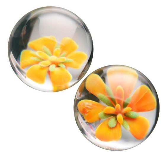 Asvani Glass Ben Wa Balls - These blooming ben wa balls are ideal for exercising Kegel muscles for more control and sexual sensation, as ...:
