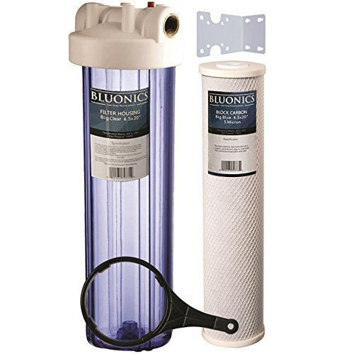 Bluonics 20 Whole House Water Filter Bad Taste Transparent