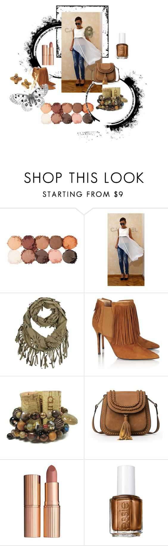 """Summer into Fall"" by jillsjoyagol ❤ liked on Polyvore featuring NYX, Aperlaï, Charlotte Tilbury and Essie"