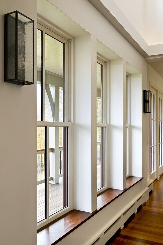 Trimless Drywall Return At Windows Dining Room Contemporary With Interior Windows House Styles House Windows