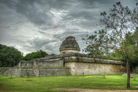 El observarorio Caracol en la antigua ciudad de Chichén Itzá en México