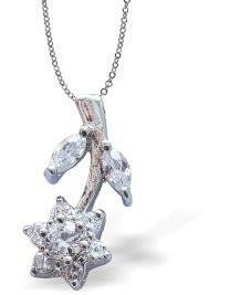Crystal Encrusted Flower Necklace