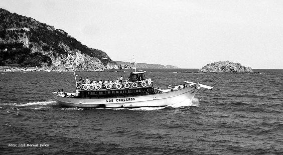Passegiersboot bij de Costa Brava