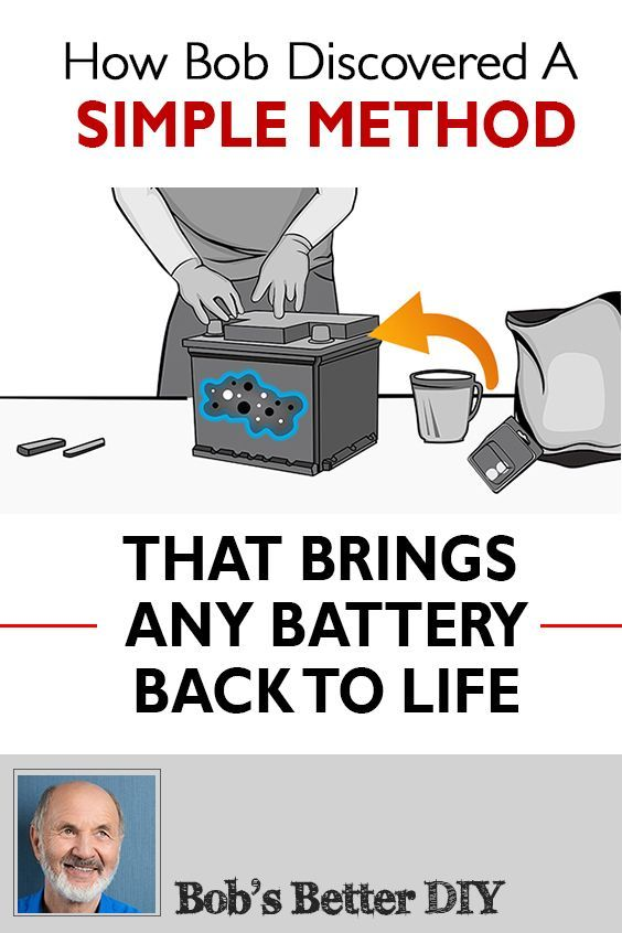 Learn How Bob Found A Way To Have His Old Batteries Working Again Like New The Whole Process Is Pretty Simp Car Battery Hacks Dead Car Battery Battery Hacks
