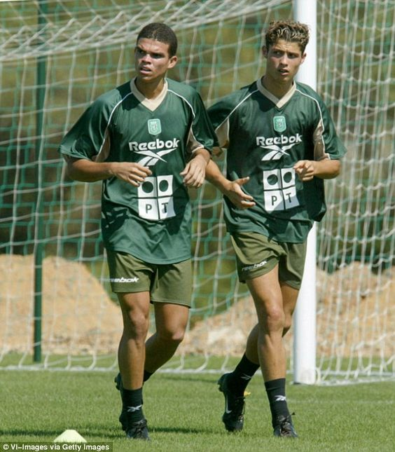 Ronaldo, pictured with Real Madrid team-mate Pepe during the latter's trial with Sporting