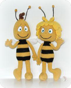 Mickey Amigurumi Bee Bee Tutorial : Maya the Bee & Willy - Free Amigurumi Pattern - PDF ...