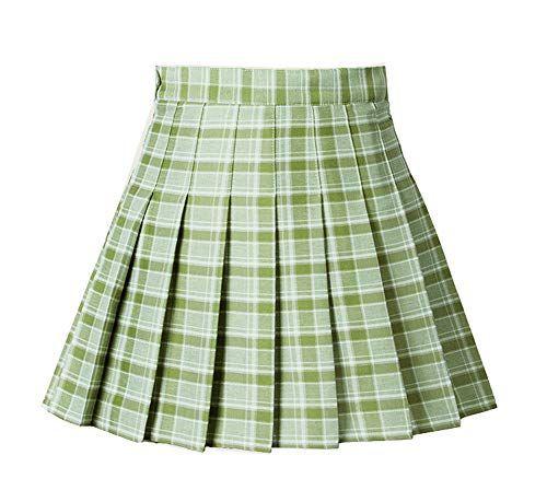 GOLDSTITCH Women Girls high Waisted Pleated Skater Tennis School Skirt Uniform Skirts