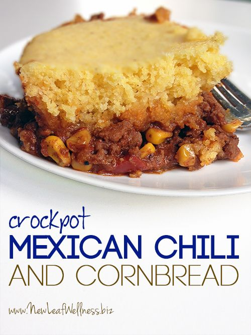 This entire dish cooks in your crockpot, even the cornbread topping! It's the perfect combination...