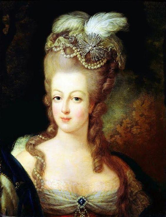 Marie-Antoinette - détail - Jean Baptiste André Gautier d'Agoty, 1755