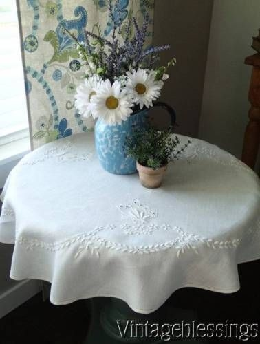 Tablecloth with butterfly