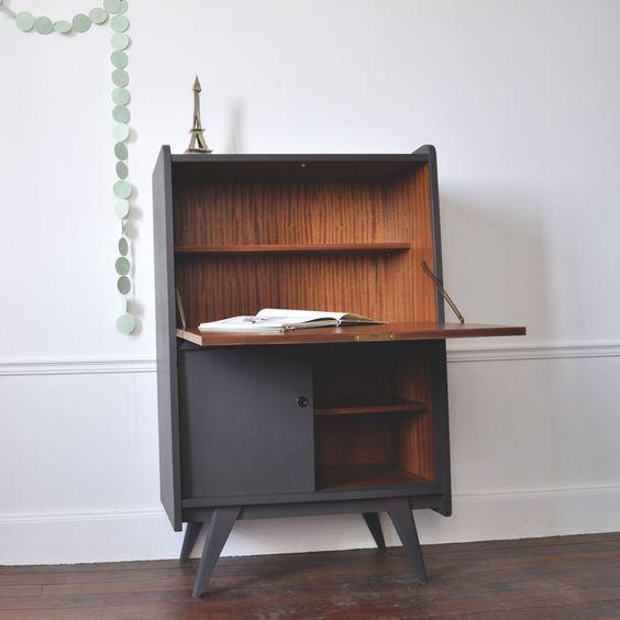 secr taire ann es 50 meubles en peinture pinterest produits et technologie. Black Bedroom Furniture Sets. Home Design Ideas