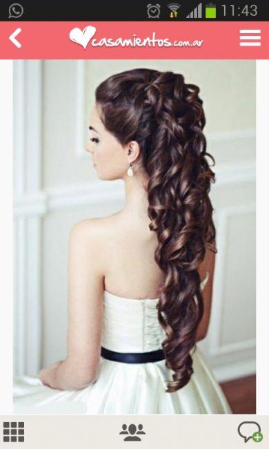 Peinado semirecogido con ondas buscar con google for Semirecogido rizado