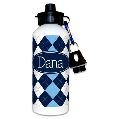 Blue Argyle Water Bottles: Argyle Water, Plastic Bottles, Blue Argyle, Water Bottles
