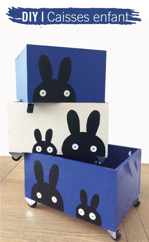 DIY petites caisses pour rangement dans chambre du0027enfant Prenez des