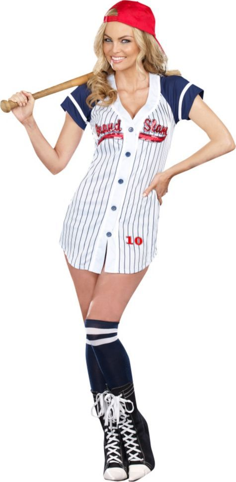 adult grand slam sexy baseball costume party city costumes pinterest costumes halloween costumes and hallows eve - Baseball Halloween Costume For Girls