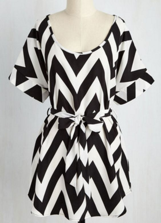 Pretty chevron print tunic
