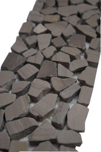 Mozaïek tegelstrips marmer | Marmersoort: Yawood | Kleur ...