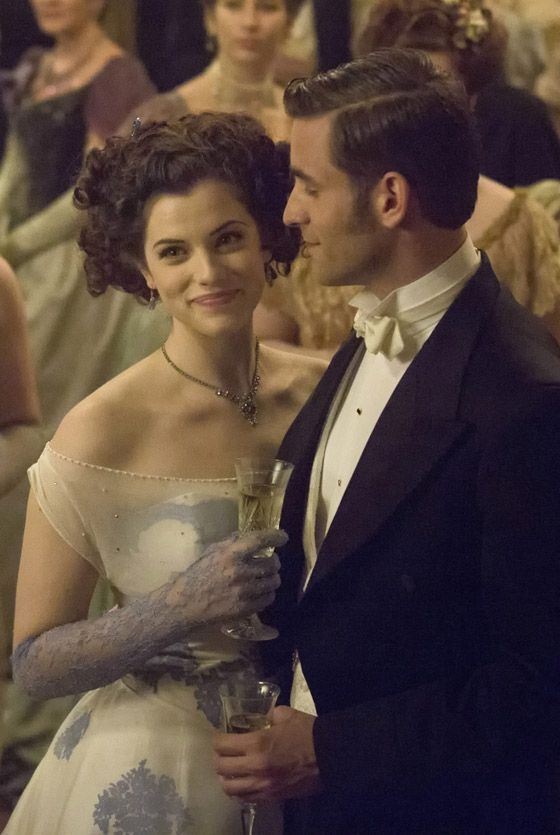 Mina Listening To Her Father Give A Speech Of Well Wishes To Harker Herself At Their Engagement Party Jessica De Gouw Oliver Jackson Cohen Dracula Nbc