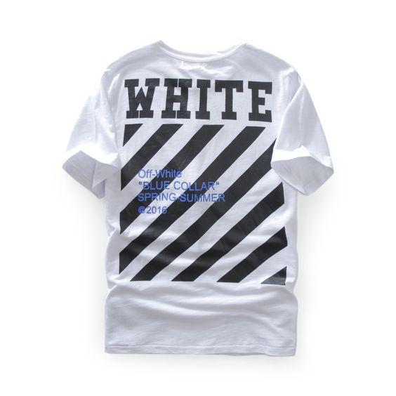 17ss Brand Off White T Shirt Box Logo Striped Letters Print Unisex T Shirt Men Women Fashion Cotton Short Sle Short Sleeve Tops Tees White Tshirt Tops Tees