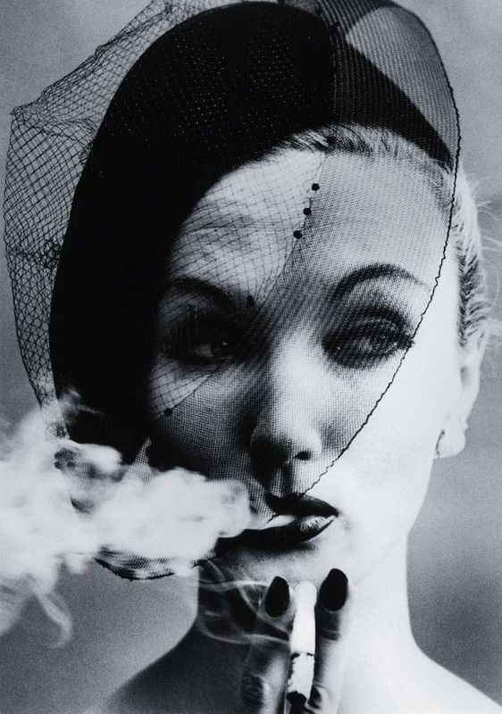 William Klein - Smoke and Veil, Paris (Vogue), 1958