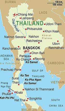 Thailand ~ Karte