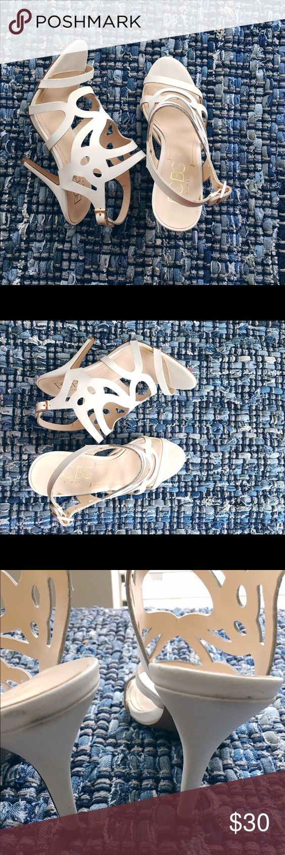BCBG shoes!🎉🎉 Gorgeous white heels! Rarely won. Slight blemishes on heels. Size 7.5. BCBG Shoes