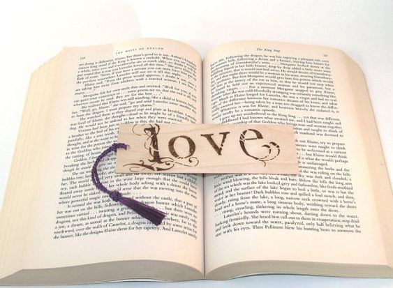 Wooden bookmark  wood pyrography  Love by bkinspired on Etsy, $6.50