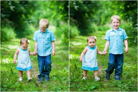 Displaying images in sequence increases the connection between these two little ones.