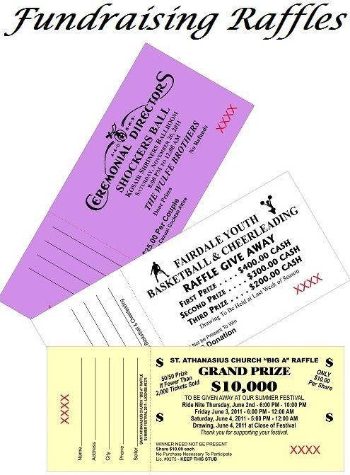 Your Image Raffle Ticket   Nonprofit  Fundraising