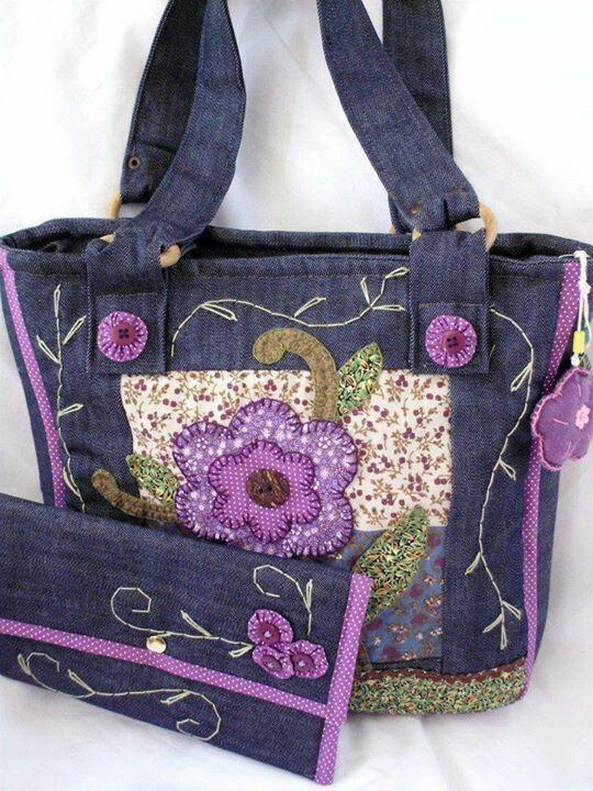 Denim and purple: