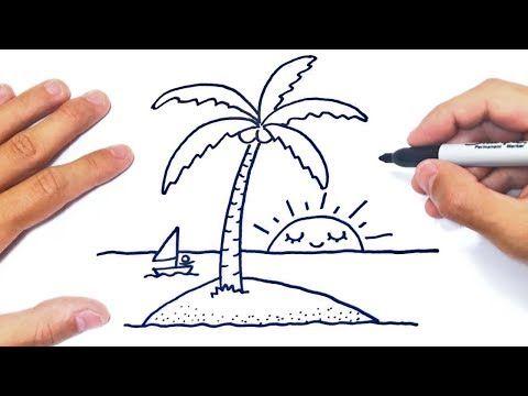Como Dibujar Una Isla Paso A Paso Dibujo De Isla Youtube Dibujos De Islas Como Dibujar Como Hacer Dibujos