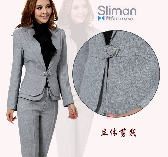 Elegant Winter Professional Women39s Suits Fashion Elegant Pant Suits Office