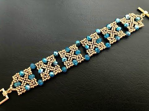 Squarey Beaded Bracelet How To Make