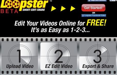 Free online video editor.  Easy three steps. 1.) upload. 2.) edit. 3.) share!