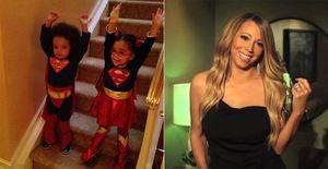 Filhos de Mariah Carey usam fantasias de super-heróis no Halloween - Mariah Carey e Nick Cannon mostram vídeos com as brincadeiras dos filhos gêmeos no Dia das Bruxas