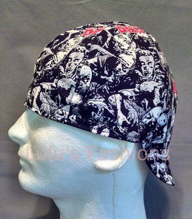 Welding Cap Walking Dead / Black or Red by LulusFashions on Etsy