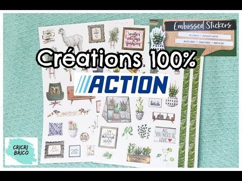 100 Action Tuto Creations Scrapbooking 10 Embossed Stickers