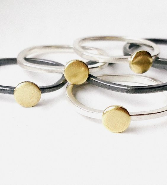 Itty Bitty Brass Ring by k.o'brien jewelry